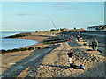 TQ9374 : Beach fishing, Sheerness by Robin Webster