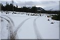 NN5187 : Track junction, Ardverikie by Dorothy Carse