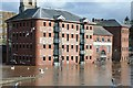 SO8454 : Flooded converted warehouses by Philip Halling