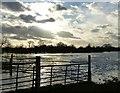 SP6406 : Flooded farmland next to Ickford Bridge by Rob Farrow