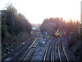 TQ4078 : Track maintenance at Charlton Junction by Stephen Craven