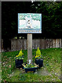 TM4489 : Worlingham Village sign by Adrian Cable