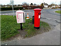 TM4389 : Hillside Avenue Postbox & Royal Mail Dump Box by Adrian Cable