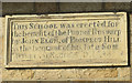 NZ8809 : Datestone on former school by Pauline E