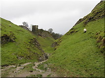 SK1482 : Cave Dale and Peveril Castle by Gareth James
