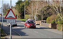 "J2766 : ""Road humps"" sign, Lambeg by Albert Bridge"