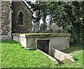 TL4845 : Duxford: air-raid shelter in St Peter's churchyard by John Sutton