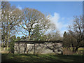 NZ0931 : Wooden barn near Bedburn Hall by Trevor Littlewood