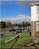 SX9065 : Blown-over sign, Torquay by Derek Harper