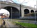 SJ3396 : Railway viaduct at Seaforth by Raymond Knapman
