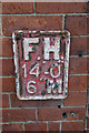 SE3032 : Fire hydrant sign on Crown Point Road, Leeds by Ian S
