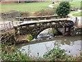SJ8382 : Sluice Gate and Bridge, River Bollin at Quarry Bank Mill by David Dixon