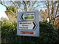 TL9739 : Signs at junction at Calais Street by Hamish Griffin