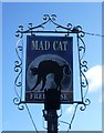 TL3377 : The sign for the Mad Cat at Pidley by Marathon