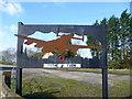 TL3079 : The sign for Tythe Farm by Marathon