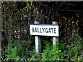 TM4190 : Ballygate sign by Adrian Cable