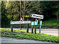 TM4190 : Roadsigns on Ringsfield Road by Adrian Cable