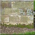 SK2327 : Bench mark, Rolleston Church by Alan Murray-Rust