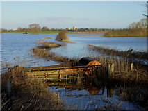 SO8625 : Flooded Leigh Brook, 2014 by Jonathan Billinger