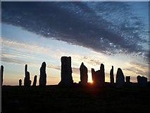 NB2133 : Callanish (main site) at sunset by Derek Haslam
