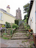 SX5447 : Steps up to the Church of St Peter by Stuart Logan