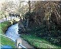 TL0467 : Small stream by the roadside, Upper Dean by Bikeboy