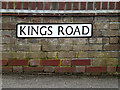 TM3488 : Kings Road sign by Adrian Cable