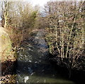ST2196 : Ebbw River from Calzaghe Bridge, Newbridge by Jaggery