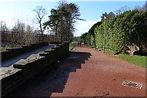 NS3421 : Riverside Footpath at Craigholm Bridge, Ayr by Billy McCrorie