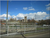 SO8276 : St Mary & All Saints Church Kidderminster From Ringway by Roy Hughes