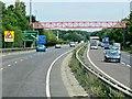 TL8664 : A14 Cycleway Bridge, Bury St Edmunds by David Dixon