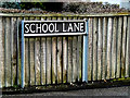 TM3692 : School Lane sign by Adrian Cable
