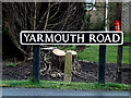 TM3792 : Yarmouth Road sign by Adrian Cable