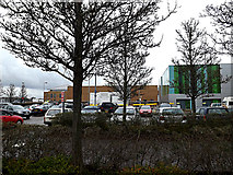 TG1807 : A & E Department & Car Park by Adrian Cable