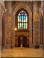 SJ8398 : Manchester Cathedral, Nave, Tower and St Mary Window by David Dixon