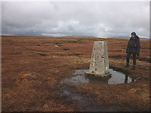 SD8484 : The summit of Dodd Fell (668m) by Karl and Ali