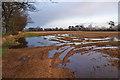 NY4660 : Waterlogged field by Richard Dorrell