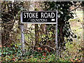 TG2301 : Stoke Road sign by Adrian Cable