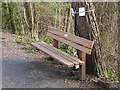 NZ1355 : Memorial bench on the Derwent Path by Oliver Dixon