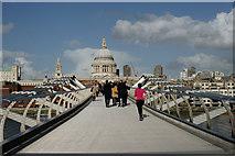 TQ3280 : Millennium Bridge, London by Peter Trimming