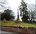 SJ7769 : War Memorial - Goostrey Churchyard by Anthony Parkes