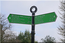 TQ3187 : Capital Ring mileage finger post, Finsbury Park by Ian S
