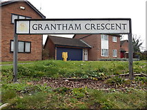 TM1543 : Grantham Crescent sign (looking right from Stone Lodge Lane) by Hamish Griffin