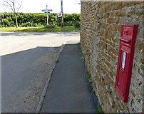 SK7724 : Postbox on the Main Road in Wycomb by Mat Fascione