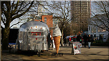 TQ3180 : Airstream 'Silver Bullet', London by Peter Trimming