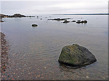 NH7358 : Grey day, high tide and no wind, Rosemarkie by Julian Paren