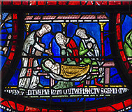 TR1557 : Plague in the house of Sir Jordan Fitz-Eisulf Part 2, Stained glass window by Julian P Guffogg