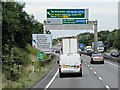 TL2272 : Westbound A14 Nearing Spittals Junction (J23) by David Dixon