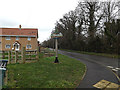 TG3000 : The Street & Bergh Apton (Beorh Apetune) Village sign by Adrian Cable