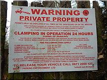 TM1543 : Impact Parking Enforcement LTD sign on Ancaster Road, Ipswich by Hamish Griffin